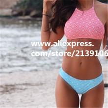 2016 new diamond pink and blue design women summer Bikini Swimsuit girl Swimwear sexy swimming suit Plump very good quality