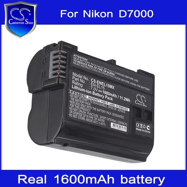 Аккумулятор для фотокамеры Cameron Sino 1600mAh EL15 /nikon 1 V1 Coolpix D7000 D800 D800e SLR D800 EN-EL15 mastering the nikon d800