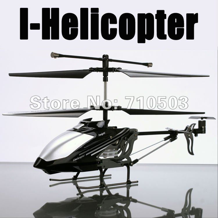 777-173 3ch iphone i-helicopter i helicopter with gyro black, white and gray(China (Mainland))