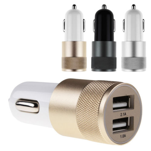 High Quality Mini Adapter Micro Auto Universal 3.1A Dual 2 Port USB Car Charger For iPhone 5 / 6 /For Samsung Galaxy Note LXFUS(China (Mainland))