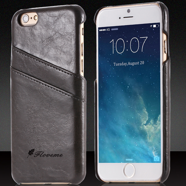 For iPhone5 Elegant Luxury Vintage Oil Wax Skin Case for iphone 5 5S 5G Leather Back Cover Stylish Brand Logo Black Phone Bags(China (Mainland))