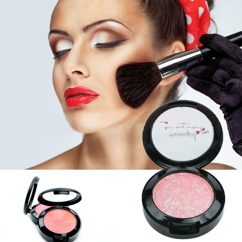 Makeup Baked Blush Palette Baked Cheek Color Blusher Blush Maquiagem Bronzer Sleek Cosmetic Shadows(China (Mainland))