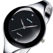 Band KIMIO mujer correa de acero inoxidable reloj relojes mujer vestido de diamantes para mujer de moda elegante pulsera pulsera de cuarzo