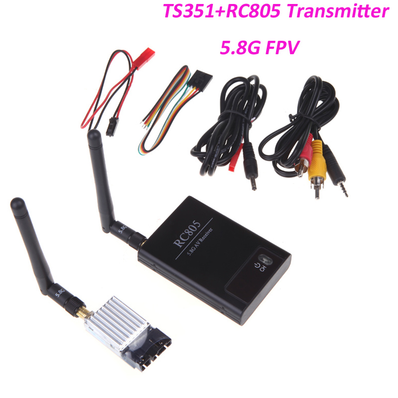 Boscam 5.8Ghz 200mW 8 Channel FPV Audio Video Transmitter&Receiver 5 TS351+RC805 2Km Range For RC Car MultiCopter(China (Mainland))
