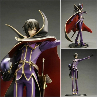 Retail 23cm Anime Code Geass R2 Lelouch Action Figure Toys The Most Popular Lamperouge ZERO PVC Crafts Collection Doll Free Ship(China (Mainland))