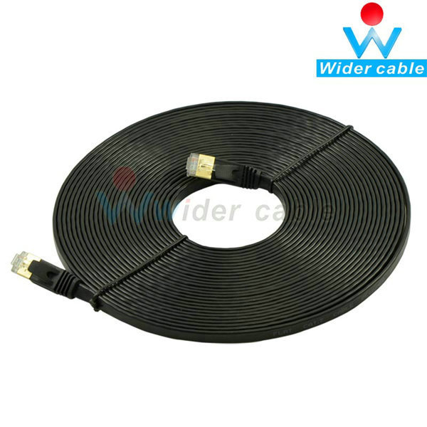 10M Network Cable Ethernet Cable Cat7 RJ45 Thin High Speed Flat Shielded Twisted Pair Internet Lan Cable(China (Mainland))