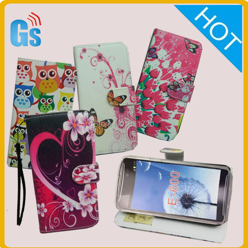 Oem Factory China Mobile Phones Printed PU Leather Wallet Flip Case Cover For Acer Liquid E600(China (Mainland))