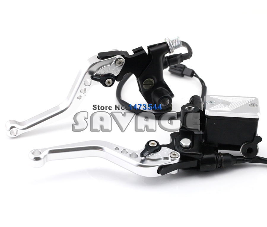 Clutch Brake Master Cylinder Kit Reservoir Levers Sliver Color For YAMAHA YZF-R125/150  YBR125/250  WR250F/450F  ST250 SEROW<br><br>Aliexpress