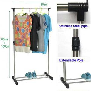 Free Shipping 2014 New Simple Home Storage Rack Movable Clothes Drying Rack Portable Single Pole Clothes Rack(China (Mainland))
