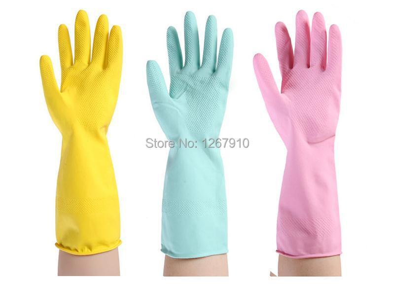 Dishwashing Gloves Kitchen 3 Pair Lot New Cleaning Rubber Gloves Kitchen Tools Dishwashing Gloves