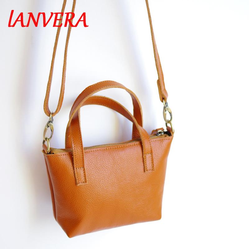 LANVERA Simple Style Women Handbag Real Leather Fashion Design Shoulder Bag Lady Crossbody Bag Girls Small Messenger Bag Totes(China (Mainland))
