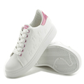 2017 latest Korean casual low to help fight small white shoes flat belt tie wild shoes