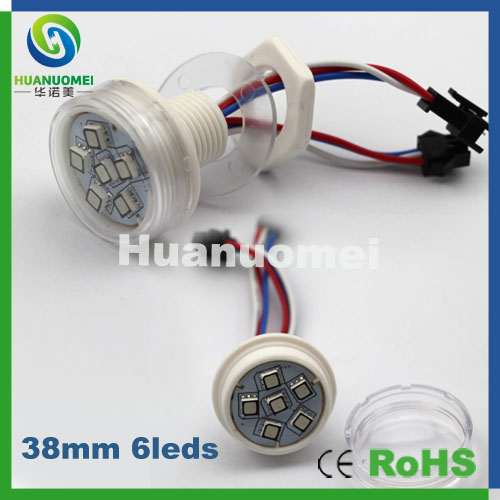 Amazing 50pcs smd5050 rgb led pixel module 38mm ,individual control led pixel amusement light(China (Mainland))