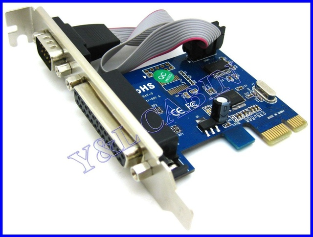 RS232 RS-232 Serial Port COM & DB25 Printer Parallel Port LPT to PCI-E PCI Express Card Adapter Converter WCH CH382L