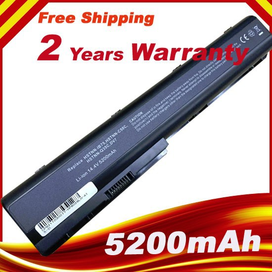 5200mAh Laptop battery for HP Pavilion DV8 DV7 DV7Z DV7T HSTNN-C50C HSTNN-DB75 HDX18 black Free shipping<br><br>Aliexpress