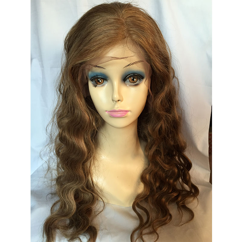 20Inches Real Hair Wavy Hairstyle Charming Color Lace Front BraziIian  Real Cheap Wigs<br>