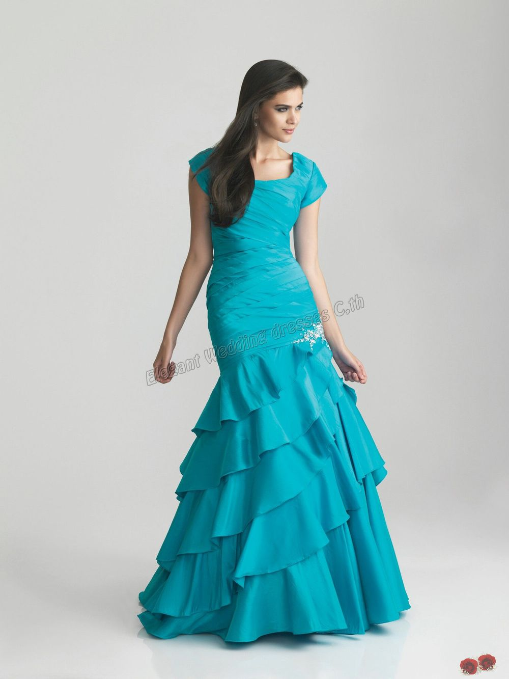 Modest prom dresses on sale eligent prom dresses for Modest wedding dresses for sale