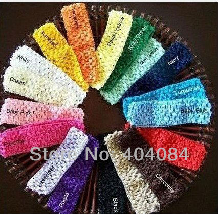 1.5inch Crochet Head Bands baby candy Headbands baby hair accessories kids waffle Headbands 26colors U Pick 60pcs/lot(China (Mainland))