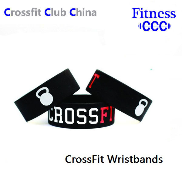 2 PCS CROSS FIT BRACELET CrossFit Wristband Geat Fitness Apparel Workout Clothing, Silicon bracelet band(China (Mainland))