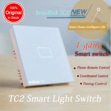 BroadLink TC1 E-Touch RF Smart Home Wall Light Switch WiFi control from phone Single live wire connection By Android IOS Phone