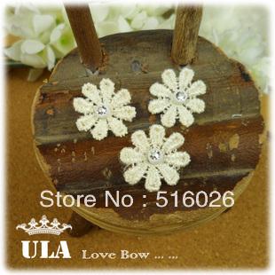 Wholesale applique beaded flower DIY Decoration Lace Fabric Paste sequins Cloth Paste Lace Applique 120 pcs/lot