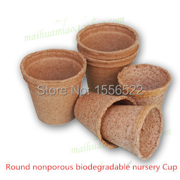 6 * 6cm / 20pcs / lot GARDEN SUPPLIES, nutrition biodegradable seedling pots small cup(China (Mainland))