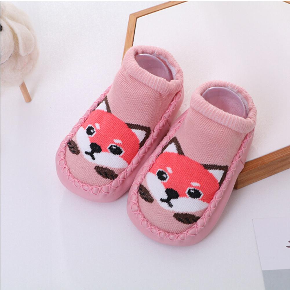 Kids Cartoon Socks Baby Girl Toddler Anti-slip Sock Shoes Boot Floor Slipper