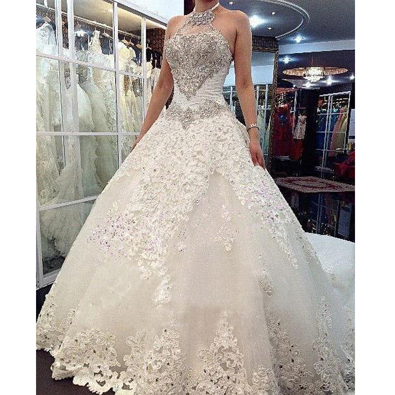 Charming design top crystal luxury wedding dress cathedral for Top wedding dress designs