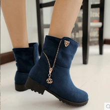 New Fashion Women Boots Female Spring And Autumn Women's Martin Boots Zip Chains Square Heel Motorcycle Boots ILXZ6024(China (Mainland))