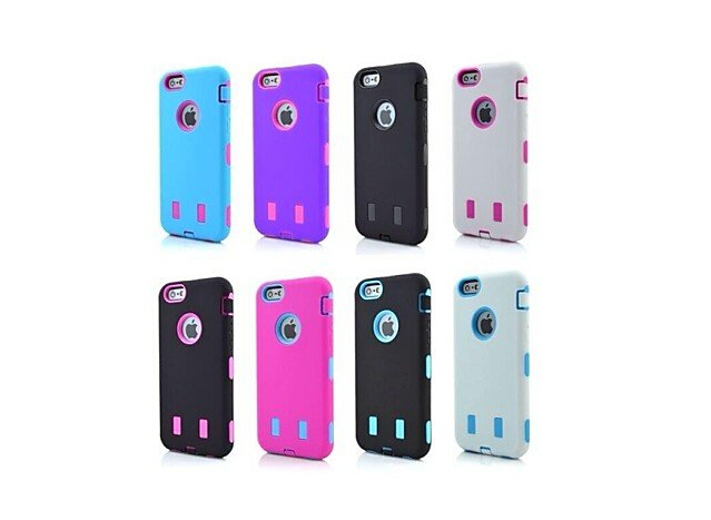 New for iPhone 6 Case 2 in 1 Robot Style PC and Silicone Composite Case for iPhone 6 4.7 (Assored Colors)(China (Mainland))