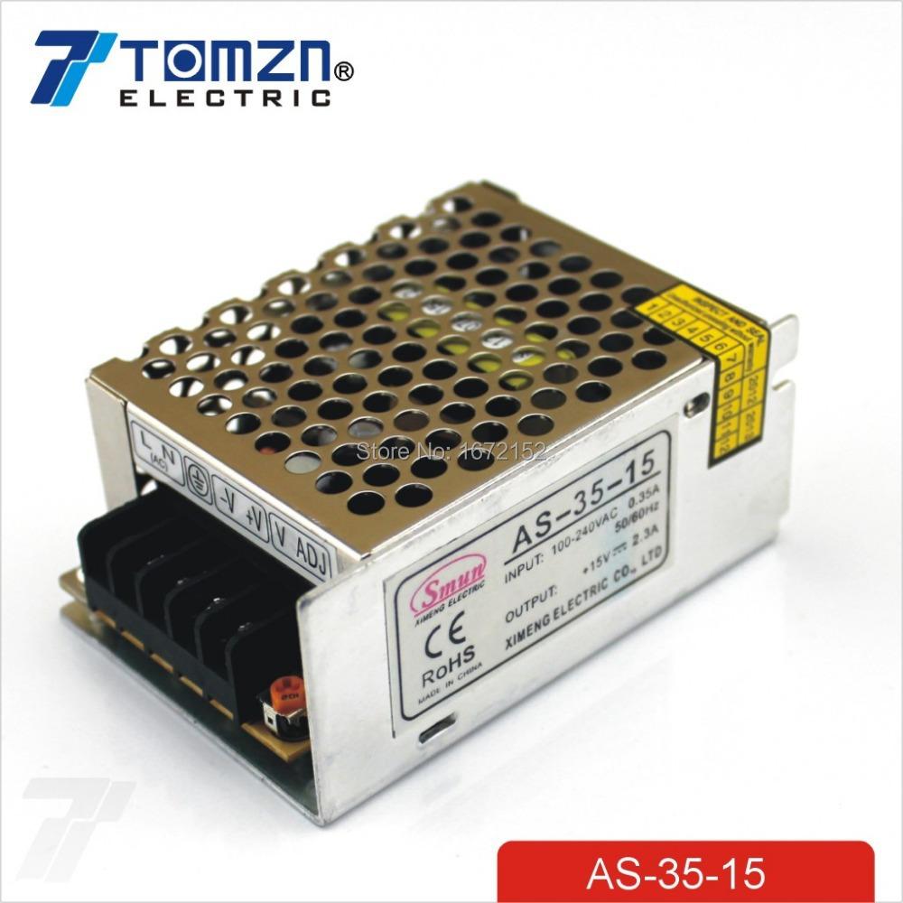 35W 15V 2.4A 100V-240V INPUT Small Volume Single Output Switching power supply<br><br>Aliexpress