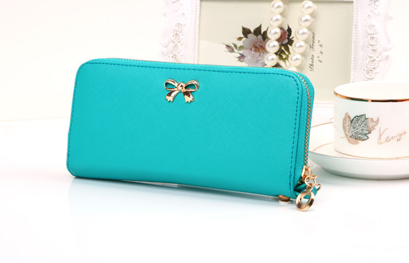 Гаджет  2015 New Hot Women Korean Cute Wallet Bowknot Purse Solid Wearable Wallet Handbag Popular Lady Purse Candy Color Freeshipping None Камера и Сумки