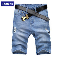 2017 Summer Men Shorts Hole Blue Demin Mens Shorts Bermuda Masculina Casual Shorts Jeans New Brand Clothing High Quality Short(China (Mainland))