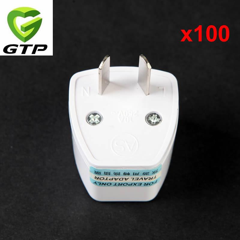 Universal Travel Adapter EU US UK to AU Plug Adapter Converter Wall AC Power Adaptor 100pcs/lot(China (Mainland))