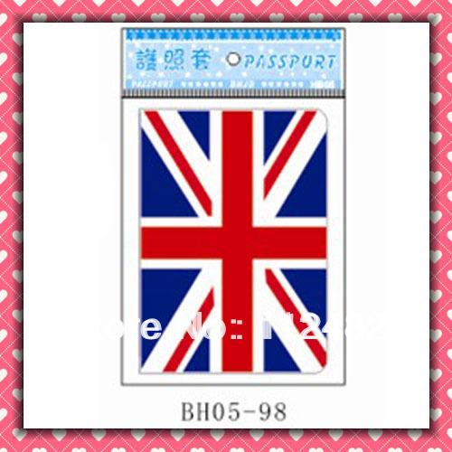 Free Shipping UK flag passport holders 100pcs/lot passport covers Card holders