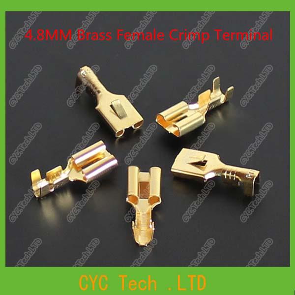 300pcs brass female crimp terminal connectors automotive connector spade terminal in. Black Bedroom Furniture Sets. Home Design Ideas