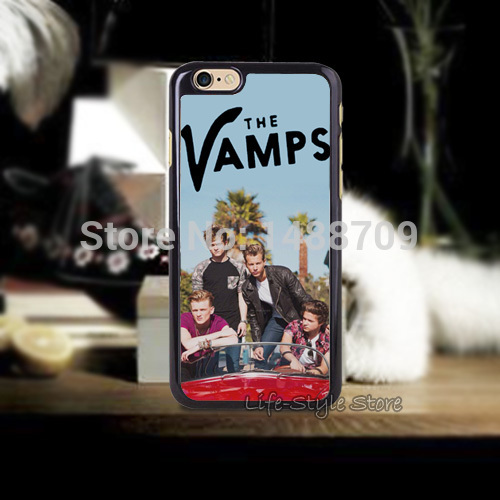 H0t Sales! THE VAMPS CUTE BOY BAND MUSIC Hard Back Phone Case for iphone4 4s 5 5s 5c and 6 6 Plus(China (Mainland))