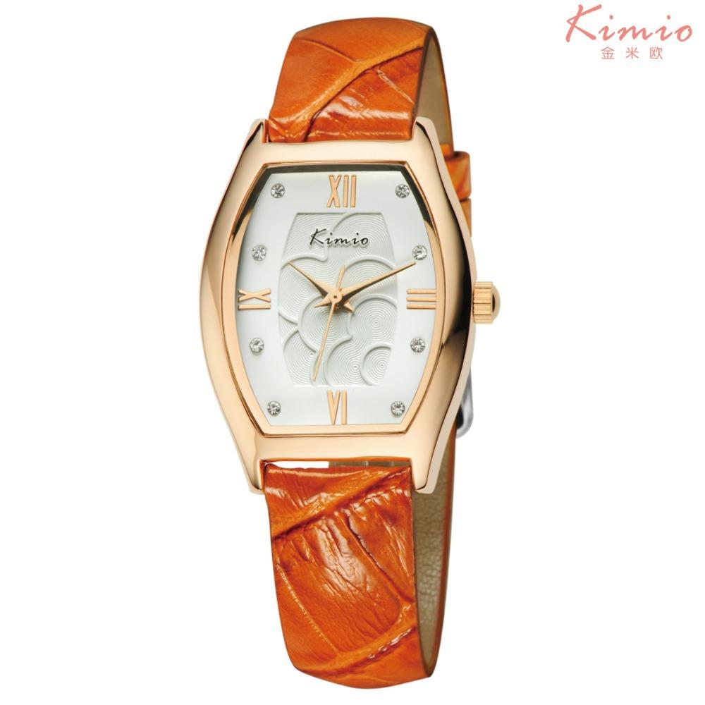 Kimio марка зрелых женщин из натуральной кожи роскошные часы, miyota 2035 японии movt, 3atm, 12-месяц гарантия, kw525s