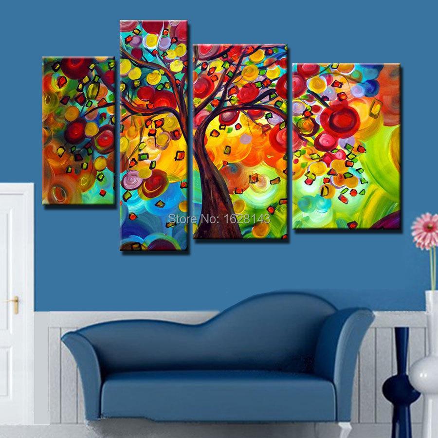 Asian tree 4 seasons wall art decorations self oriental four seasons