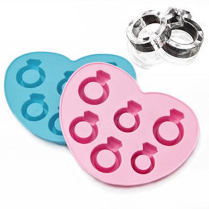 Free shipping 100pcs Love ring ice tray / ice mold / ice mold maker / chocolate ring ice mold(China (Mainland))