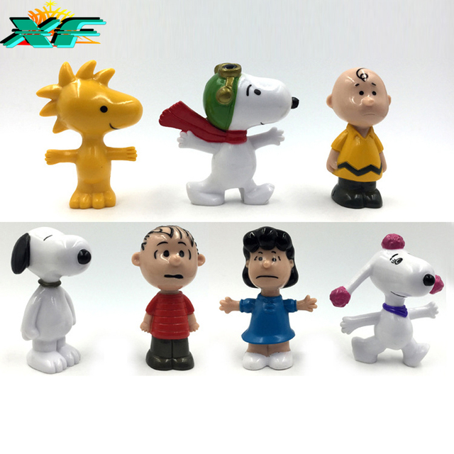 Miniature Toys For Boys : Pcs lot action figure figures peanuts toys set movie