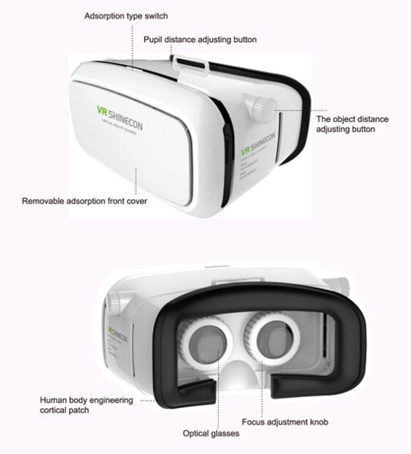 ถูก ขายร้อน! Shinecon VR 360วิดีโอที่สมจริงความจริงเสมือน3D VRชุดหูฟังของG Oogleกระดาษแข็งเกมแว่นตาเข้ากันได้+ระยะไกลContro