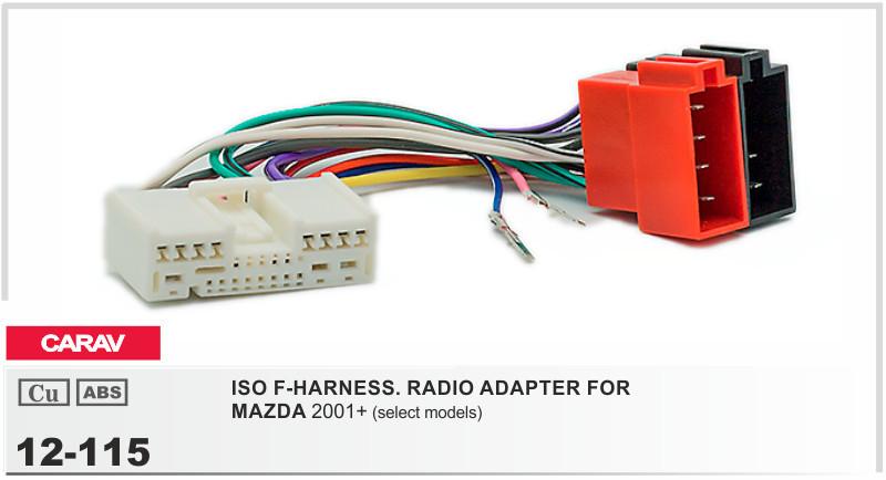 Carav 12 115 Iso F Harness Radio Adapter For Mazda 2001