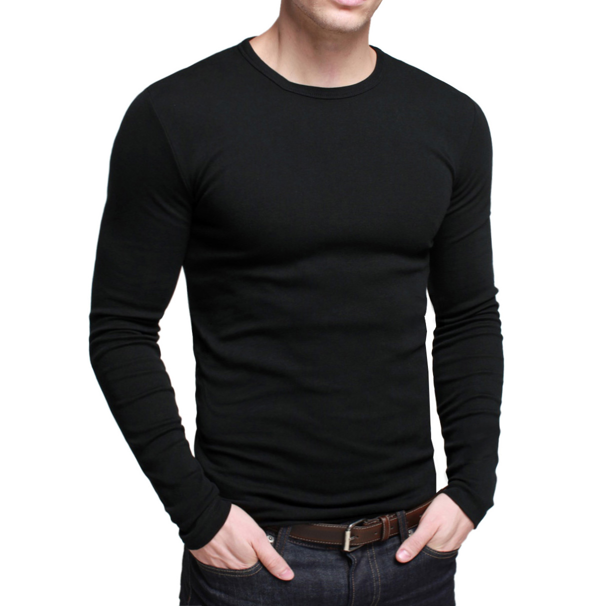 Buy free shipping men 39 s long sleeve t for Mens long sleeve t shirts sale