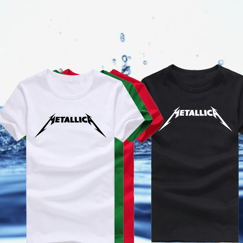 High Quality Unique Rock Band Metallica Logo Printed T