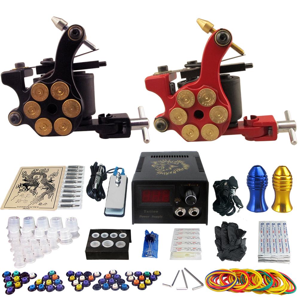 Solong Tattoo Pro 2 machine Gun Tattoo Kit Machine Gun Power Supply Foot Pedal Needles Grip Tip Ink Cups TK202-18CN<br><br>Aliexpress