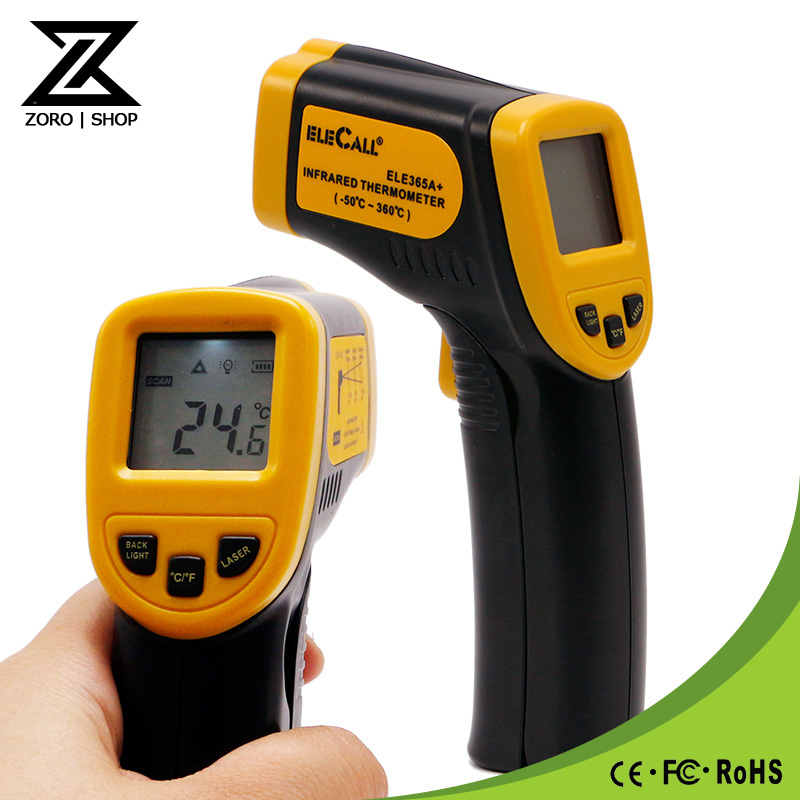 ELE365A -50C To 360C Non-Contact Laser LCD Display Digital Infrared Thermometer Temperature Meter Gun Wholesale(China (Mainland))