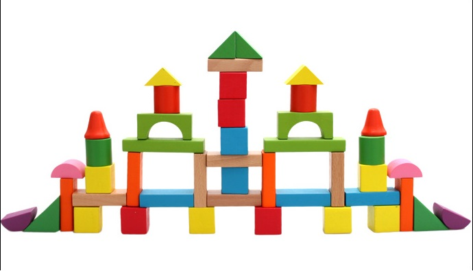 50pcs wooden brick grains Educational building block wooden brinquedos baby toys large blocks <br><br>Aliexpress