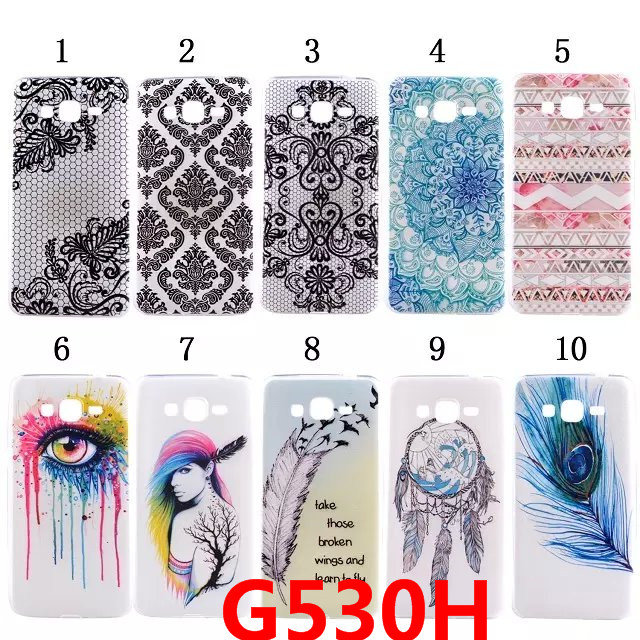 Coque Grand Prime G530H Ultrathin TPU Fashion Painting Case For Samsung Galaxy Grand Prime Case G530 Soft Silicone Cover * <(China (Mainland))