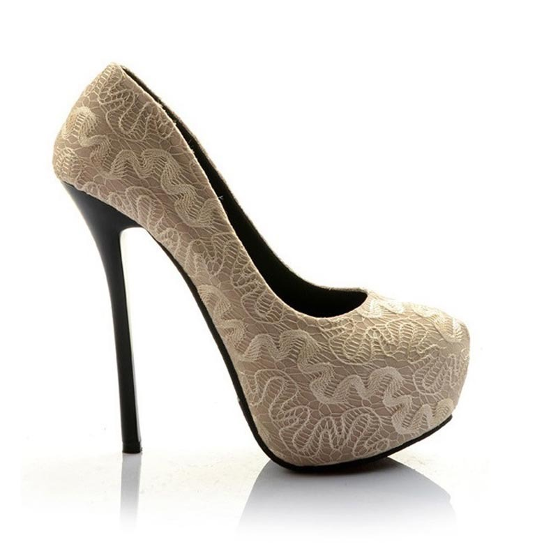New 2014 shoes women pumps fashion comfort lace sexy 14 cm high heels sapatos femininos chaussure femme size 35~45